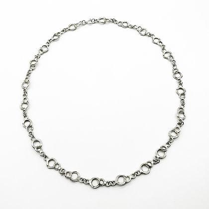 Modernist Handmade Silver Chain