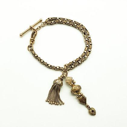 Victorian 9ct Rose Gold Albertina Bracelet (Sold)