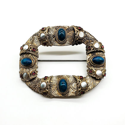 Arts and Crafts Silver Gilt Brooch