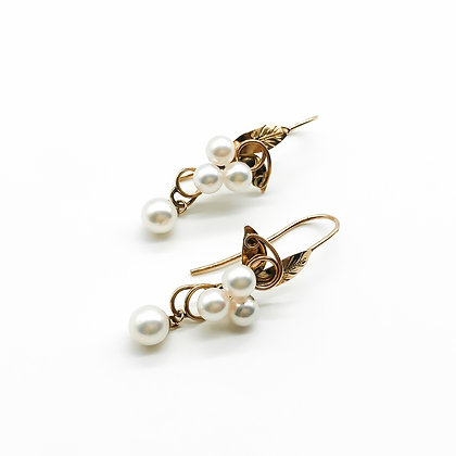 18ct Rose Gold and Cultured Pearl Earrings