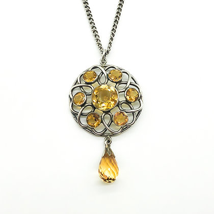 Silver Citrine Pendant on Silver Chain (Sold)