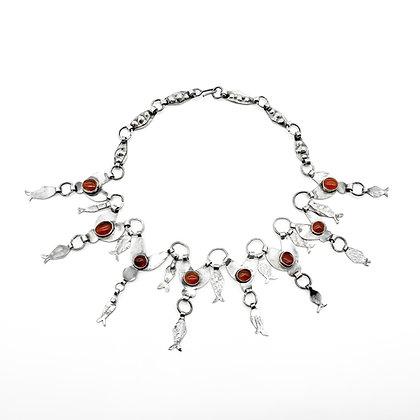 Silver Carnelian Vintage Necklace