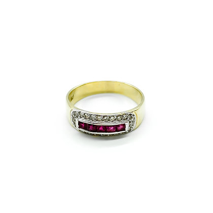 18ct Gold Diamond and Ruby Ring (Sold)