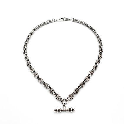 Ornate Silver Fob Chain