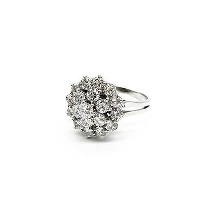 18ct White Gold Cluster Diamond Ring (P.O.R)