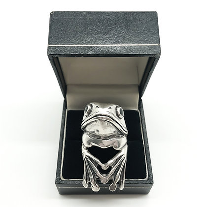 Heavy Silver Handmade Frog Ring (Sold)
