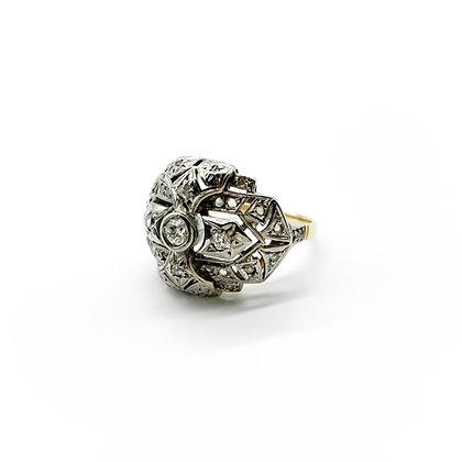 18ct Gold Art Deco Old Cut Diamond Ring