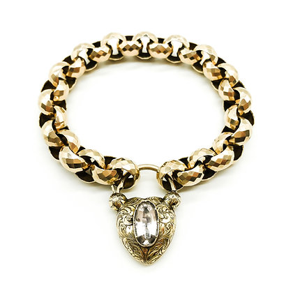 Victorian Rose Gold Bracelet with Padlock (Sold)