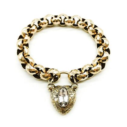 Victorian Rose Gold Bracelet with Padlock