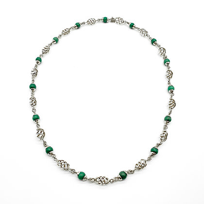 Vintage Mexican Silver and Turquoise Necklace