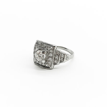 Art Deco Platinum and Diamond Ring (P.O.R)