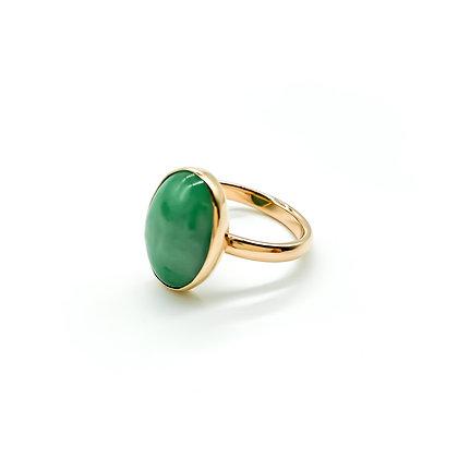 15ct Rose Gold Jade Ring (Sold)