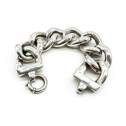 Chunky Silver Link Bracelet (Sold)