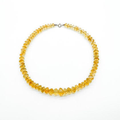 Citrine Necklace with Silver Clasp