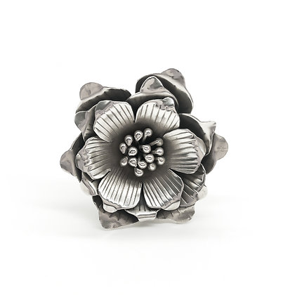 Large Silver Flower Ring (Sold)
