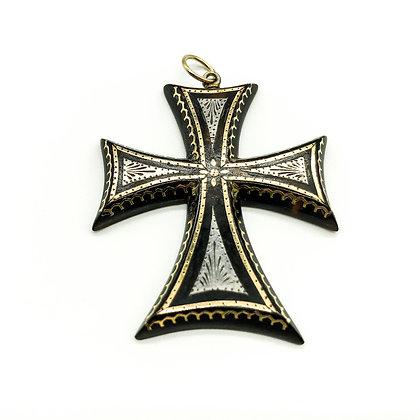 Victorian Piqué Tortoiseshell Cross