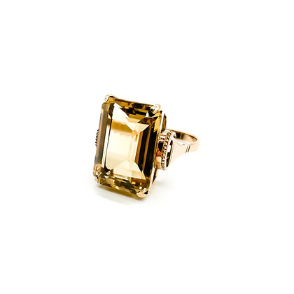 9ct Rose Gold Citrine Ring