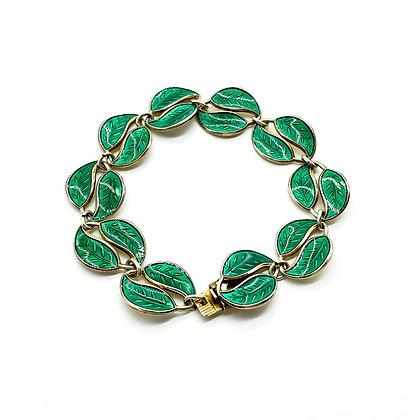 Vintage Enamelled Silver Gilt Bracelet