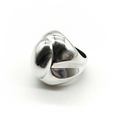 Modernist Silver Ring