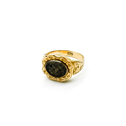 15ct Gold Victorian Mourning Ring