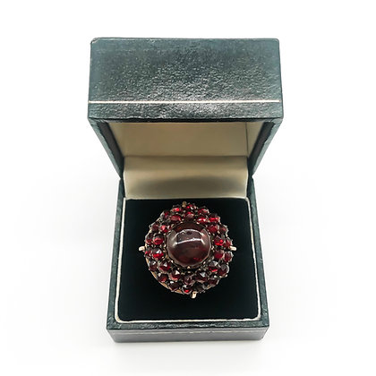 Vintage 9ct Rose Gold Ring with Garnets (Sold)