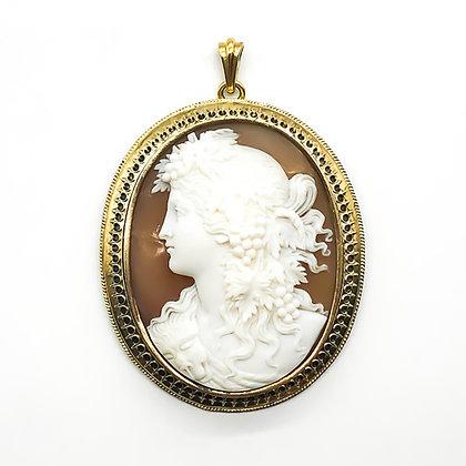 Victorian 15ct Gold Cameo Pendant