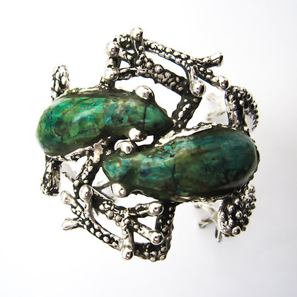 Mexican Silver Frog Bangle (Sold)
