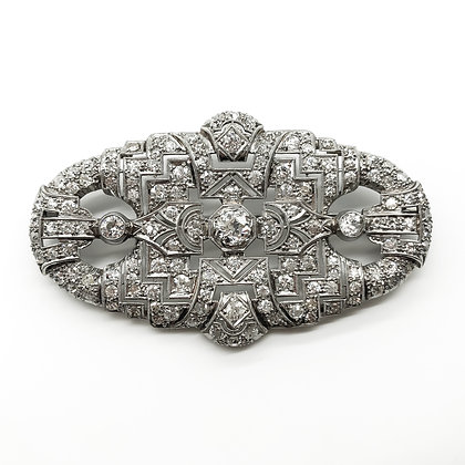 Large Art Deco Platinum and Diamond Brooch (P.O.R)