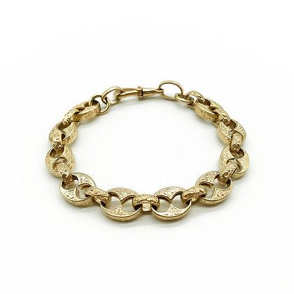 Vintage 9ct Gold Engraved Bracelet