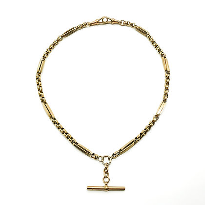 Victorian 9ct Rose Gold Fancy Link Fob Chain