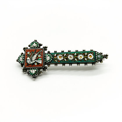 Victorian Silver Micro Mosaic Brooch (Sold)