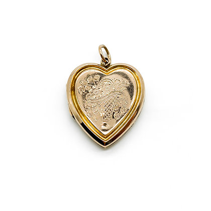9ct Rose Gold Back and Front Locket
