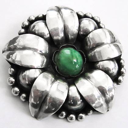 Mexican Flower Repoussé Brooch (Sold)