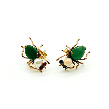 14ct Gold Vintage Spider Earrings (Sold)