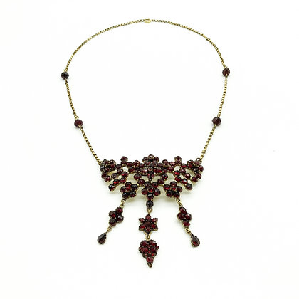 Silver Gilt Garnet Necklace (Sold)
