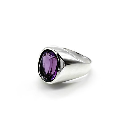 Silver Mexican Amethyst Ring