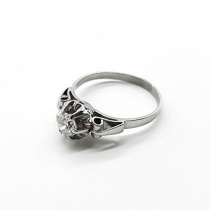 Platinum Ring set with 0.55ct Old-European Cut Diamond