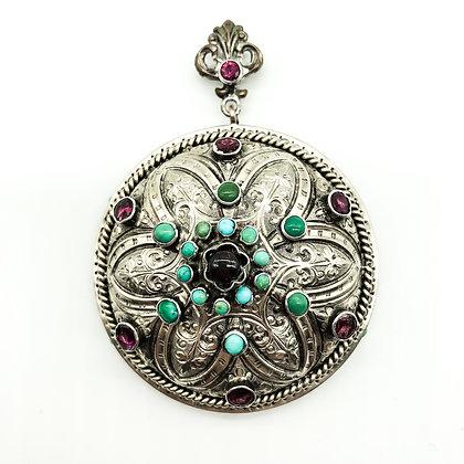 Silver Gilt Austro-Hungarian Pendant