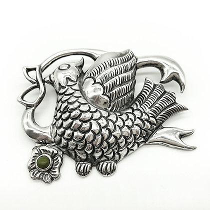 Vintage Mexican Silver Bird Brooch