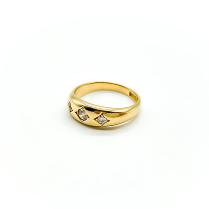 Edwardian 18ct Gold and Diamond Gypsy Ring