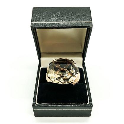14ct Gold Ring with Smokey Quartz