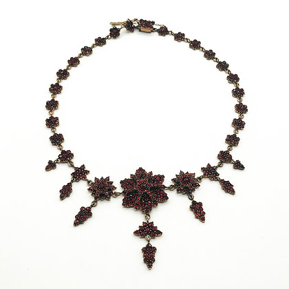Victorian Garnet Chandelier Necklace (Sold)
