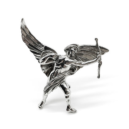 Vintage Silver Winged Man Brooch