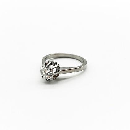 Vintage 18ct White Gold Diamond Ring