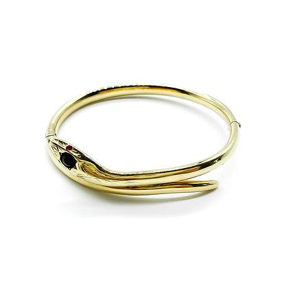 14ct Yellow Gold Snake Bangle