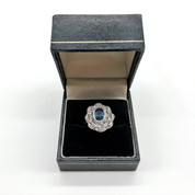 Vintage 18ct White Gold Diamond and Sapphire Ring