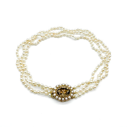 Vintage Pearl Choker with 9ct Gold Clasp