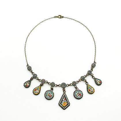 Victorian Micro Mosaic Necklace (Sold)