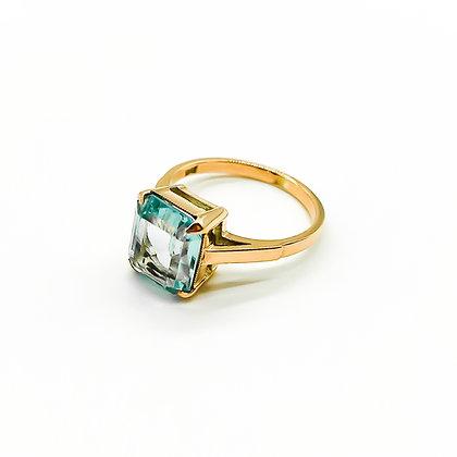 9ct Rose Gold Ring set with Aquamarine (Sold)