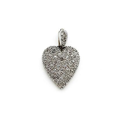 Vintage 18ct Gold and Diamond Heart Pendant